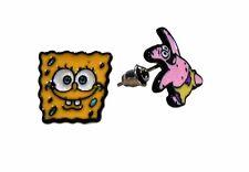 Nickelodeon Spongebob & Patrick Metal Enamel Post Stud Earring Set