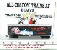 HO CUSTOM LETTERED HILLARY 2020 SHE BELONGS THERE COLLECTIBLE REEFER  LOT F