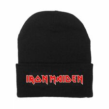 IRON MAIDEN Classic Logo Knit Beanie Skull Cap Licensed Adult OSFM New