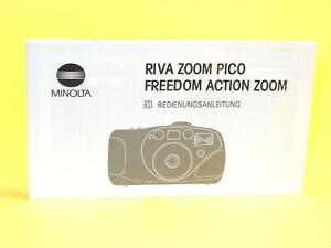 Original(!) Minolta Instruction Manual for RIVA ZOOM PICO, in German!