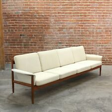 Grete Jalk For France & Søn Danish Mid Century Modern Teak Sofa Model 118