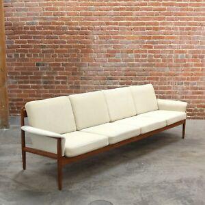Grete Jalk For France & Søn Danish Mid Century Modern Teak Sofa Model 118