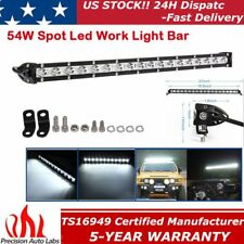 20inch 54W Led Work Light Bar Spot Beam Slim Single Row Driving Offroad Lamp UTE