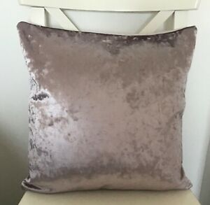"""LUXURY CRUSHED VELVET PALE LILAC DOUBLE SIDED 16"""" X 16"""" CUSHION COVER"""