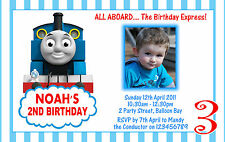 Personalised Thomas The Tank Engine Birthday Party Invitation 1st 2nd Invites