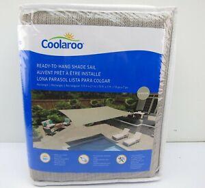 NEW Coolaroo Ready To Hang Shade Sail 13' x 7' Color Riverstone Tan Patio Deck