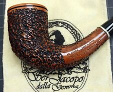 New & Unsmoked Ser Jacopo Picta Miro` 10 R1 Rustic with Silver Ring Band