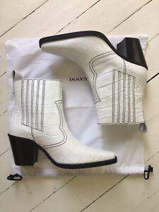 GANNI Western Boot In White EU 39 US 9 NWOB Original Retail $489