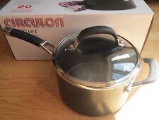 Circulon Premier Professional 20cm Covered Saucepan - Helper Handle & Glass Lid
