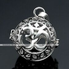1x Silver Chime OM Symbol Cage Mexican Harmony Ball Locket Pregnant Pendant