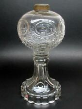 Antique Atterbury Cottage Glass Kerosene Oil Lamp c1870's
