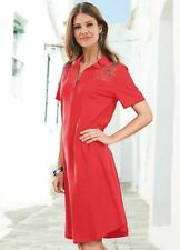 Together NWT UK size 10 red orange cotton comfy loose polo t-shirt polo dress