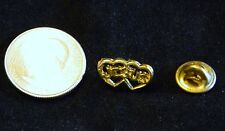 DOUBLE HEART WITH JESUS LAPEL HAT PIN 018