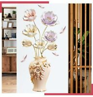Large Flowers Vase Wall Stickers Mural Home Office Living Room Decoration Poster