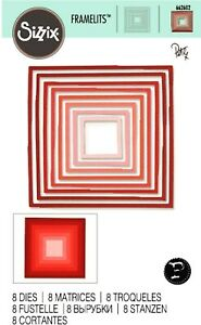 Sizzix Framelits Square Frames 8pk #662602 Retail $16.99 by Hughes, UK Exclusive