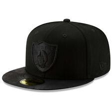 NEW ERA NFL Las Vegas Raiders 59FIFTY Black Label Fitted Hat Cap - All Black