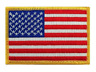 """NEW AMERICAN USA FLAG EMBROIDERED IRON ON PATCH APPLIQUE 3.25"""" X 2"""" HIGH QUALITY"""