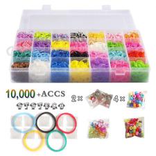 Rubber Band Refill Pck Colorful Loom Kit Organizer for Kid Bracelet DIY Crafting