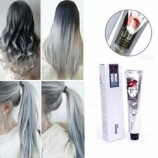 100ML Fashion Grannyhair Permanent Punk Hair Dye Colour Light Gray Silver Cream