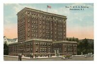 1914 New YMCA Building Providence RI Rhode Island Street View Postcard