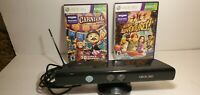 Microsoft Xbox 360 Kinect Motion Sensor Bar Black 2 Games