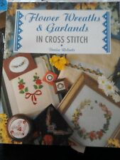 FLOWER WREATHS AND GARLANDS IN CROSS STITCH BOOK BY DENISE ROBERTS