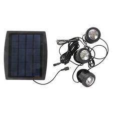 Outdoor Solar Powered LED 3 RGB Spotlight Garden Pool Pond Spot Light I5F6