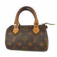 Auth LOUIS VUITTON M41534 Monogram Mini Speedy Small Hand Bag Pouch 12973bkac
