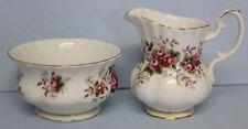 Royal Albert Lavender Rose Open Sugar Bowl and Creamer EUC