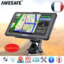 """Awesafe 7"""" Système de navigation GPS avec Bluetooth et cartes gratuites d'Europe"""