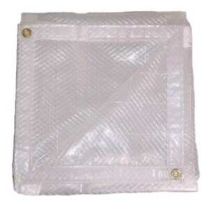 12' x 20' Clear String Reinforced Poly Tarp, 7 oz , 10 Mil Thick