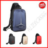 Men's Cross Body Bag Chest Shoulder USB Laptop Pouch Anti Theft Small Backpack