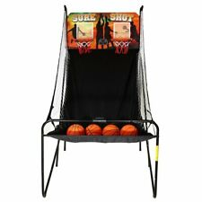 Dual Electronic Basketball Game Set 2 Hoops Indoor Gaming Sports LED Arcade Play