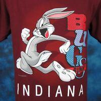 NOS vintage 90s BUGS BUNNY INDIANA LOONEY TUNES T-Shirt MEDIUM cartoon hip hop