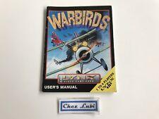 Notice - Warbirds - Atari Lynx - PAL