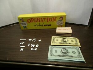 Vintage 1997 Operation Game Replacement Parts Money Cards Manual Bones