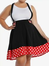 New listing new Disney Minnie Mouse polka dot suspender skirt official plus size 3 3X 3Xl