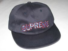 59e8731659a SUPREME New York Stepped Arc 6 Panel Hat Cap NAVY Adjustable NEW! F W