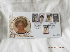 DIANA PRINCESS OF WALES MEMORIAL COVER 1998 THE MAIL ON SUNDAY BENHAM SILK