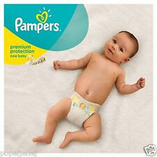 Pampers New Baby Size 1 Nappies Jumbo Pack of 72 Newborn Babies Monthly Saving