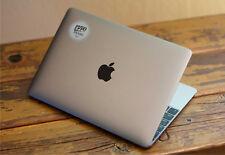 "3x Black on Black Apple Logo Sticker for 12"" Macbook and 13"" 15"" Macbooks Pro"