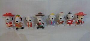 8X Snoopy World tour figurine toy 1999 Mcdonalds