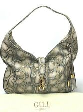 G.I.L.I Got it Love it NEW $268 Verona Snake Print Hobo Shoulder Bag Purse