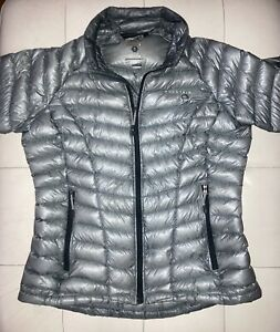 Mountain Hardwear Ghost Whisperer 850 Fill Down Puffer Jacket XS Silver VGUC