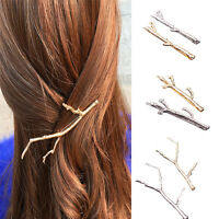 Celebrity Metal Tree Branch Hairpin Gold Silver Hair Clip for Women Bobby Pin 1X