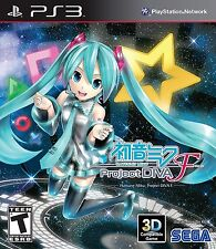 Hatsune Miku: Project DIVA F [PlayStation 3 PS3, Anime Idol Music Game] NEW