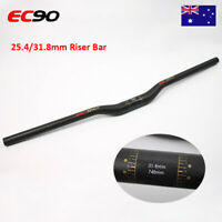 EC90 Riser Handlebar 25.4/31.8mm Carbon Fiber 660-740mm MTB Mountain Bike Bar