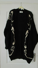 LADIES LONG BLACK CARDIGAN SIZE 18/20
