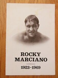 """ROCKY MARCIANO 1923-1969 FUNERAL SERVICE Program """"Champion"""" by Charlie Petti"""