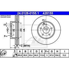 SATZ 2x ATE Bremsscheibe MERCEDES-BENZ C-CLASS (W204)  MERCEDES-BENZ C-CLASS C